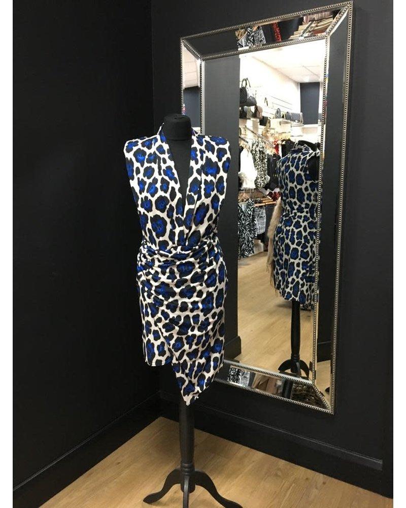 Ellie blue leopard dress