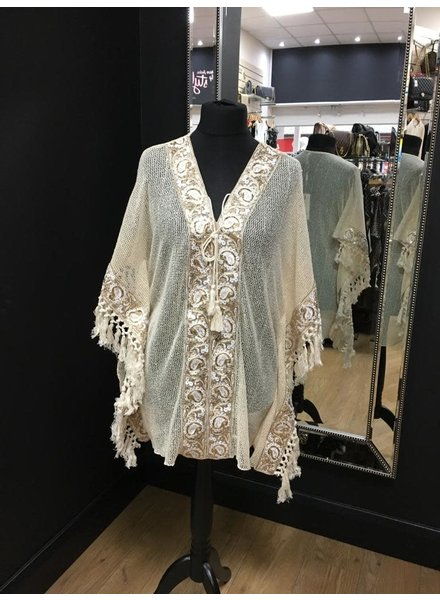 Patrice Gold embellished Front top