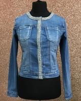 Sofia pearl & Diamante Denim Jacket