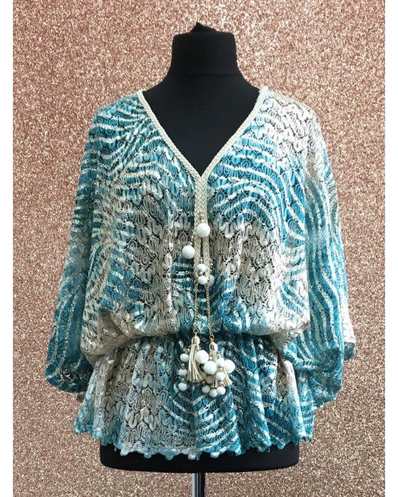 Pom Pom tassel crochet top