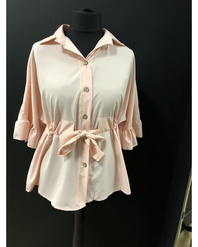 Nicki frill belted blouse