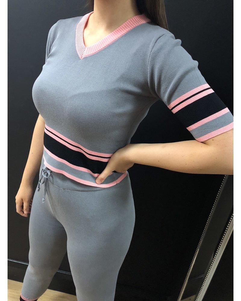 Alix 2 piece short sleeved loungesuit