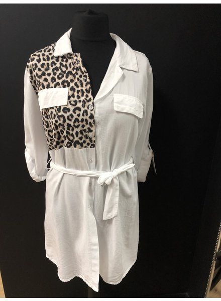 Lexi leopard shirt dress