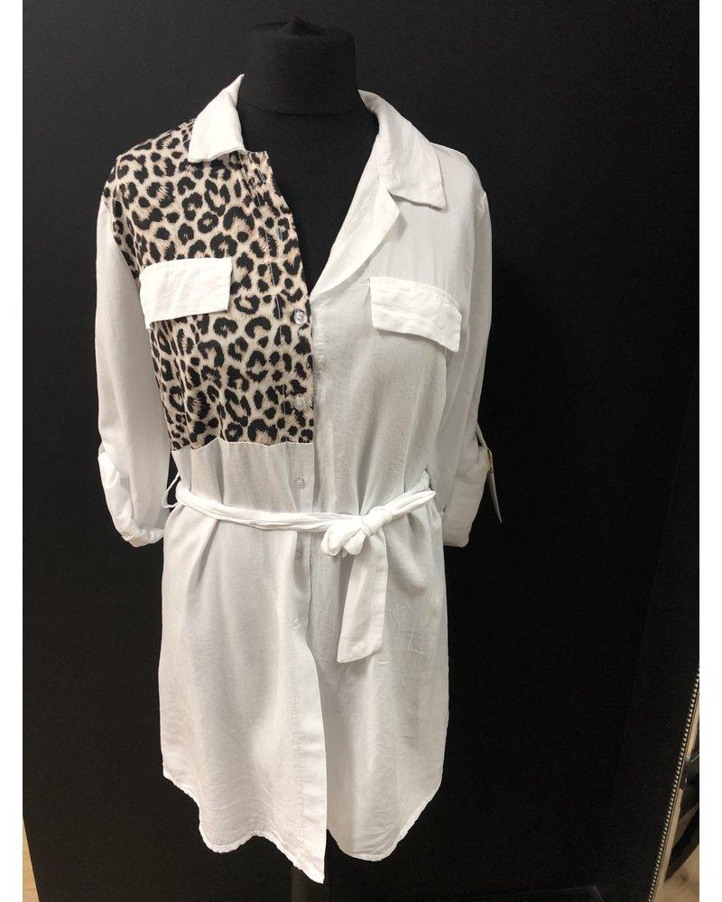 Lexi leopard shirt dress