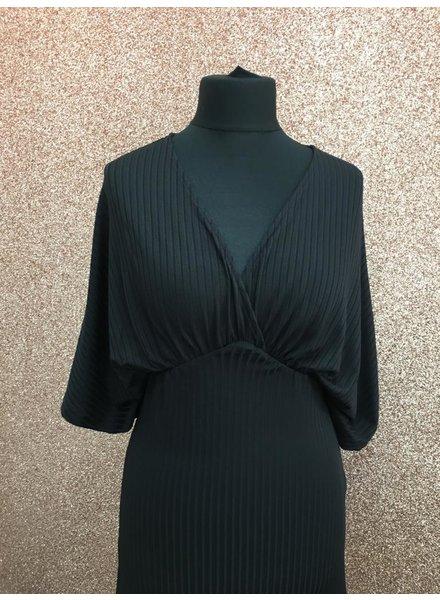 Selina crossover ribbed dress