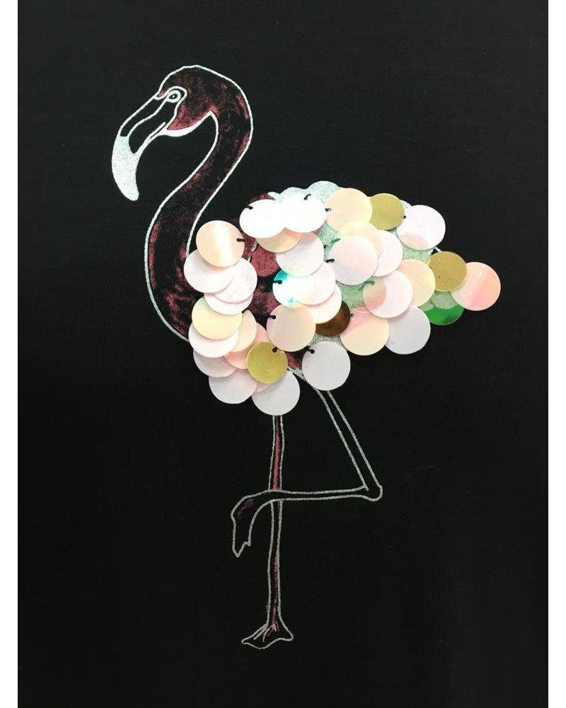 Flamingo sequin T-shirt