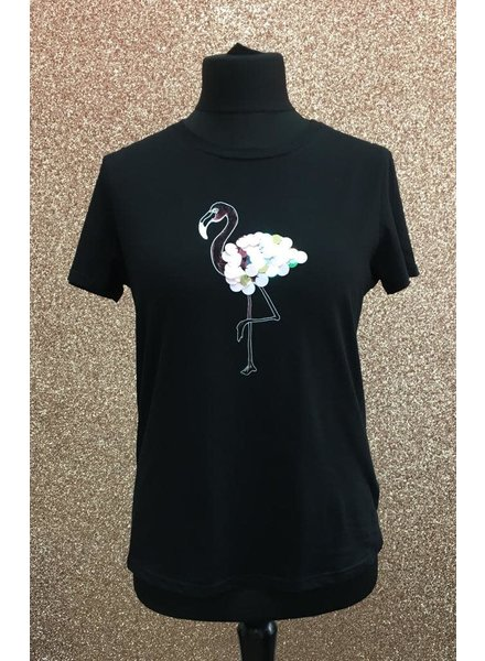Flamingo sequin T-shirt