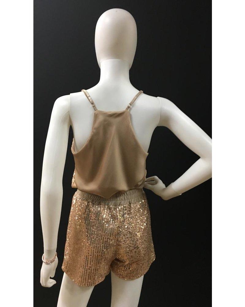 Sequin cami & shorts set