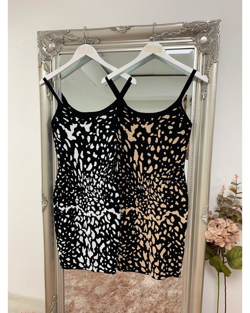 Amber animal print vest dress