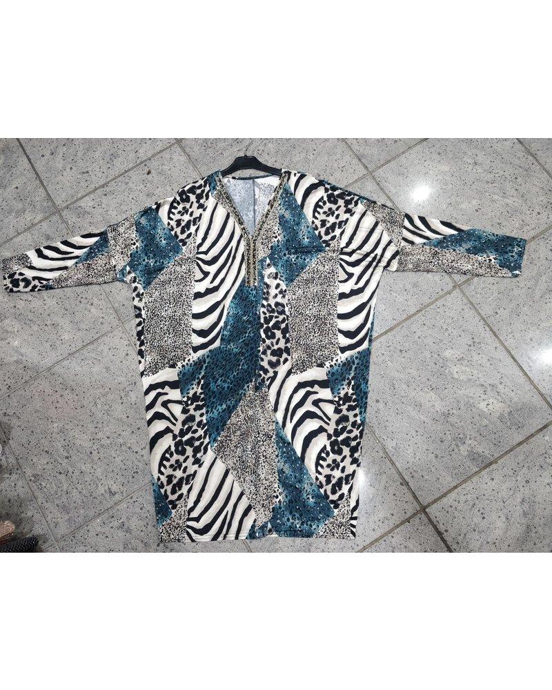 Glitter embellished long sleeve dress