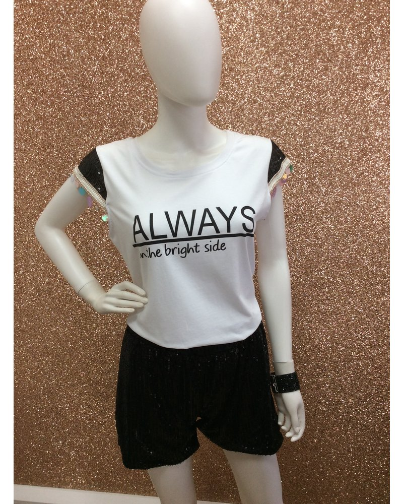 Always Sequin shorts and Tee set
