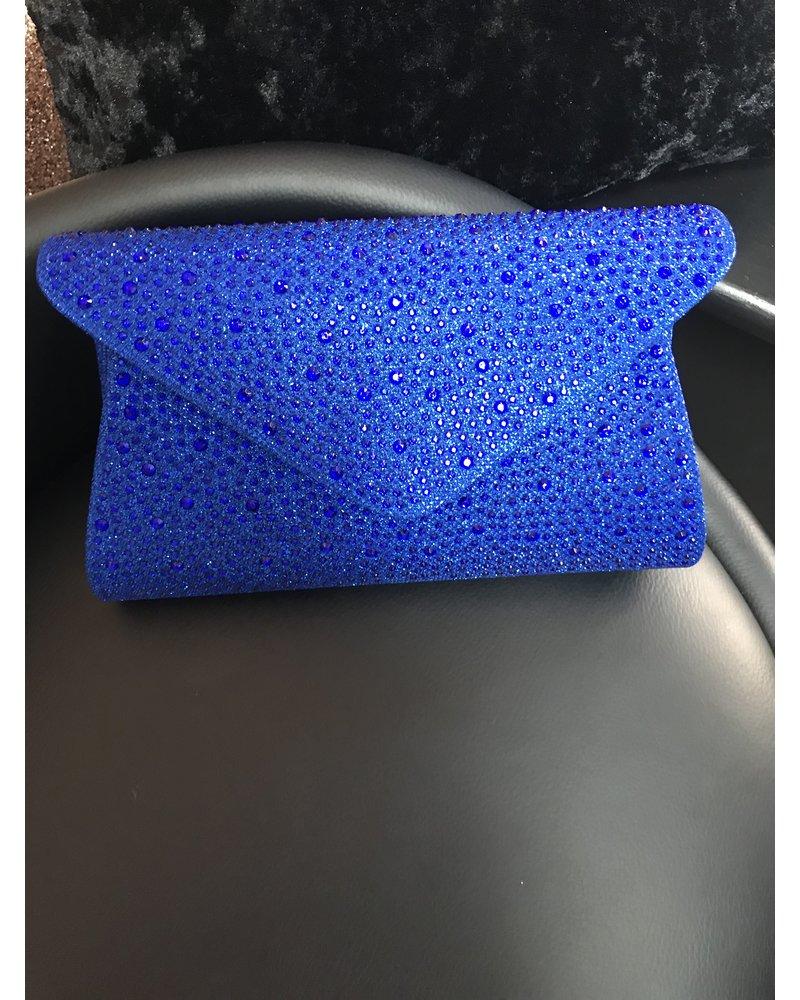 Glitter embellished clutch bag