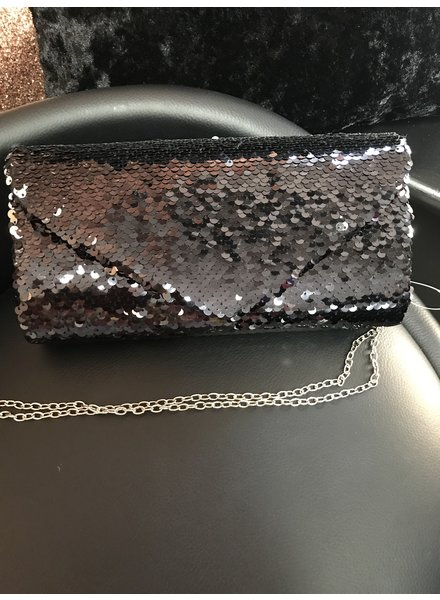 Mermaid sequin clutch bag