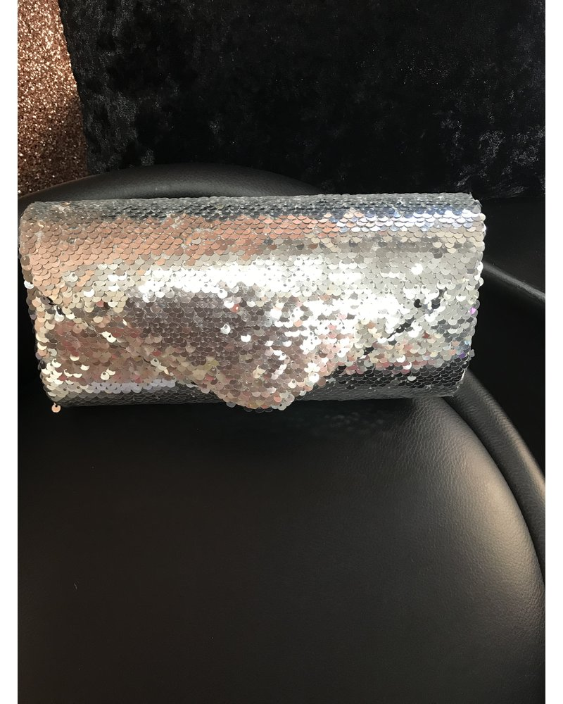 Mermaid sequin clutch bag