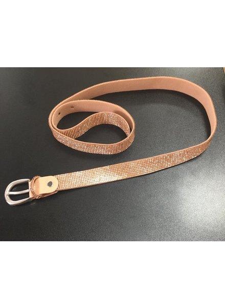 Rose Gold Diamanté Belt