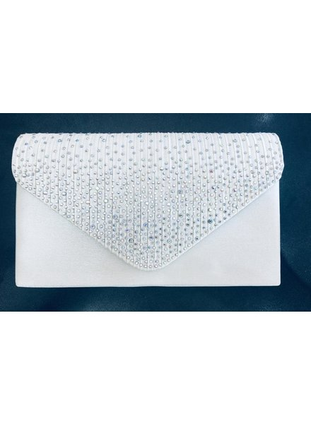 Glitter front envelope clutch bag