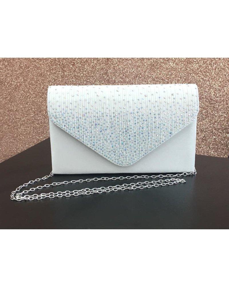 Glitter front envelope clutch bag