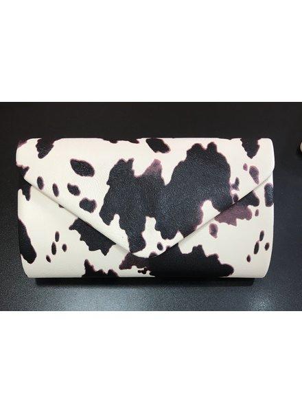 Animal print clutch
