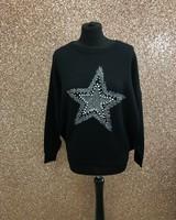 Sara Star diamanté embellished jumper