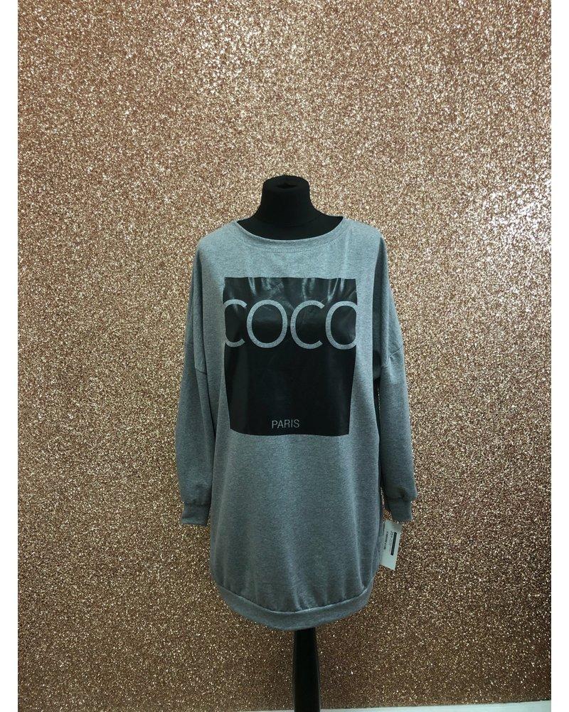 Coco slogan sweater dress