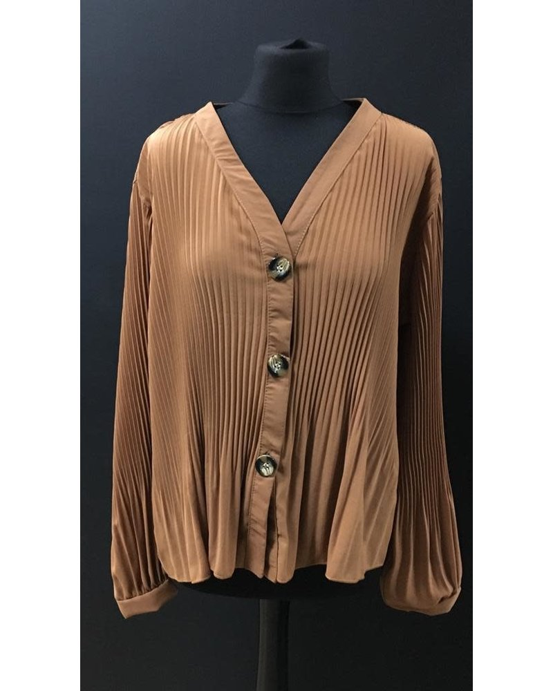 Bethany Pleated button up blouse