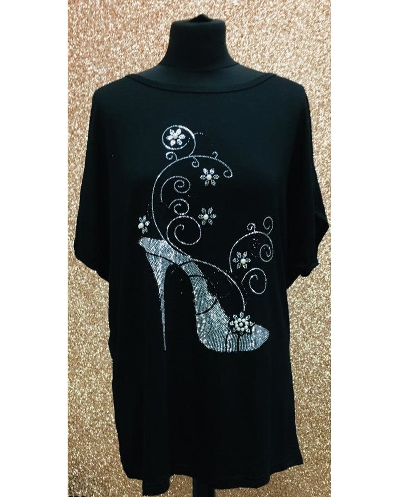 Diamanté Shoe embellished T-shirt