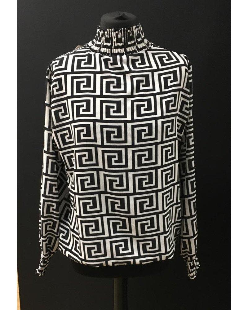 Collette Ruffle collar & cuff blouse