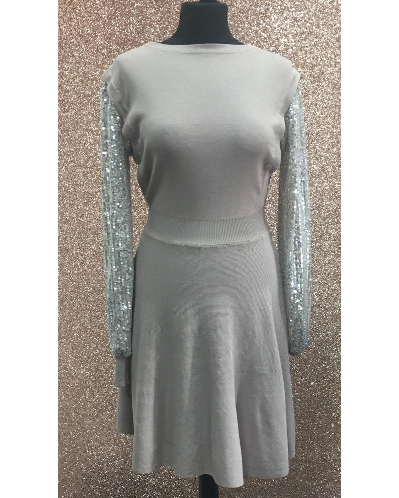 Sally sequin arm dress