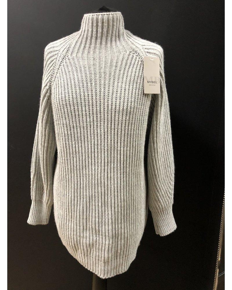 Chunky knit roll neck jumper dress