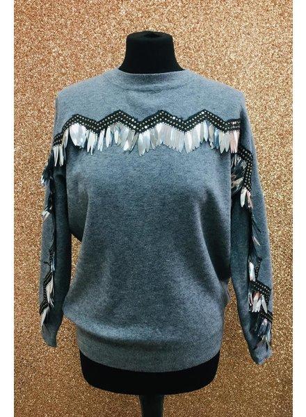 Kimi sequin embellished jumper