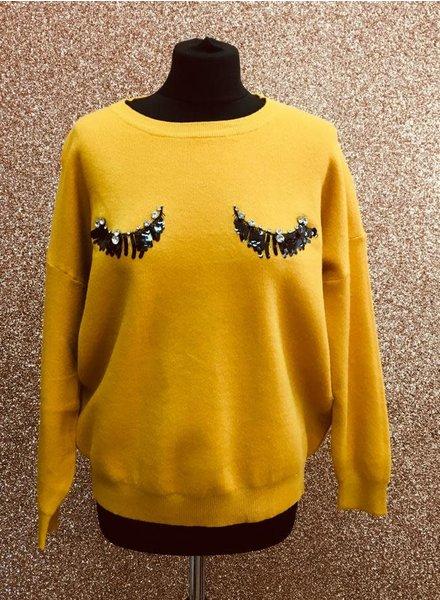 Diamanté & sequin Eyelash jumper
