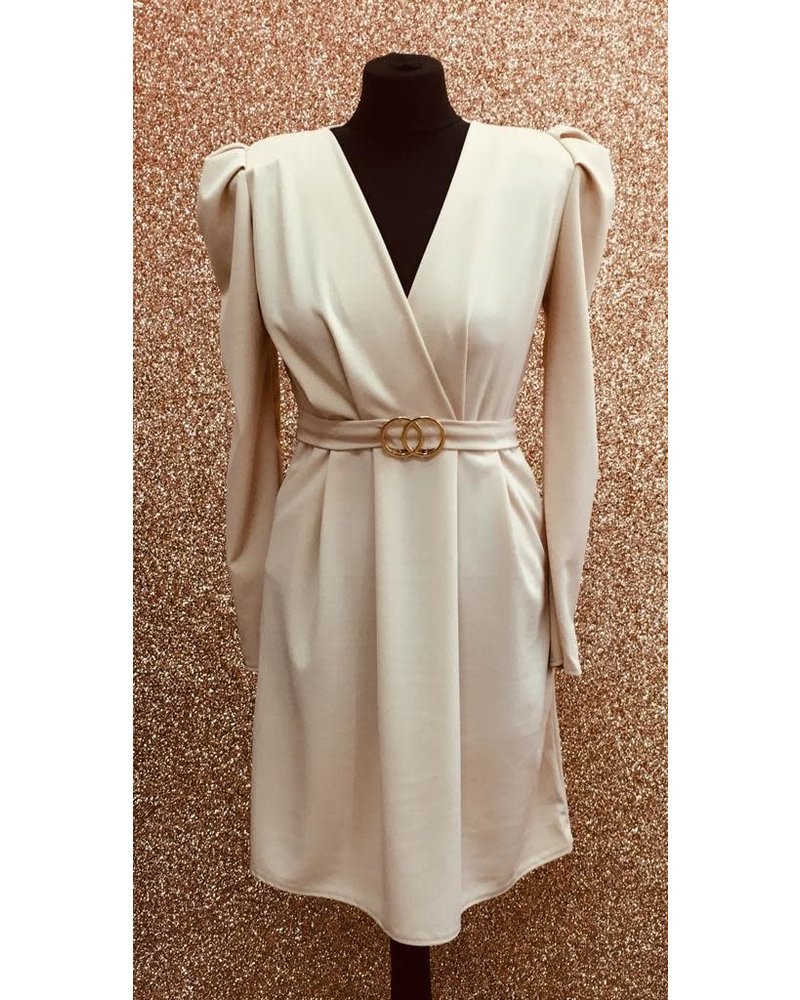 Carly belted crossover dress