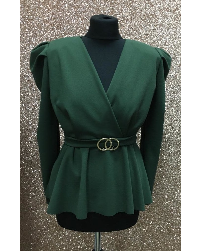 Carly Belted Crossover Top