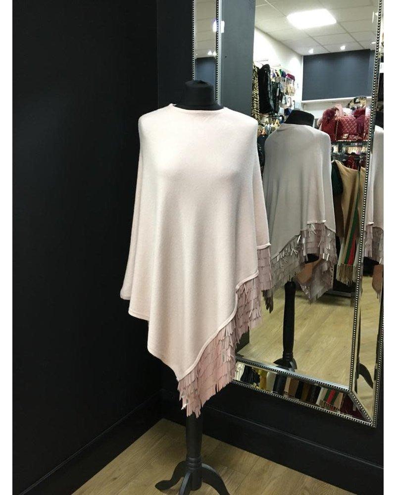 Sequin embellished Hem Poncho