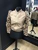 Cory sheer puff sleeve spot zip up jacket