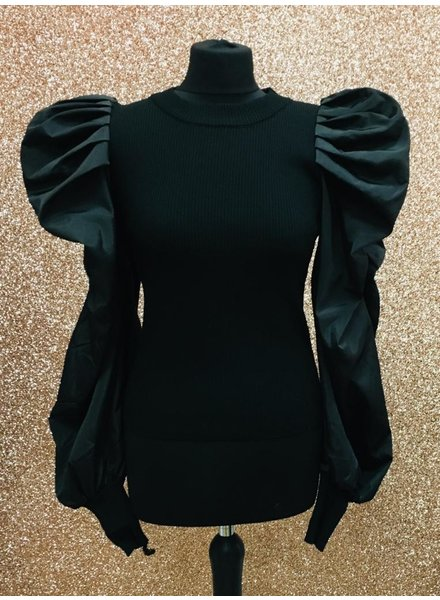 Pixie puff sleeve top