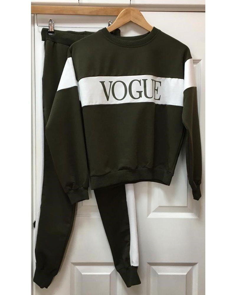 Vogue stripe lounge suit