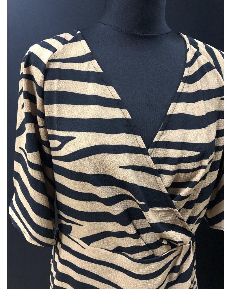 Zara zebra crossover top