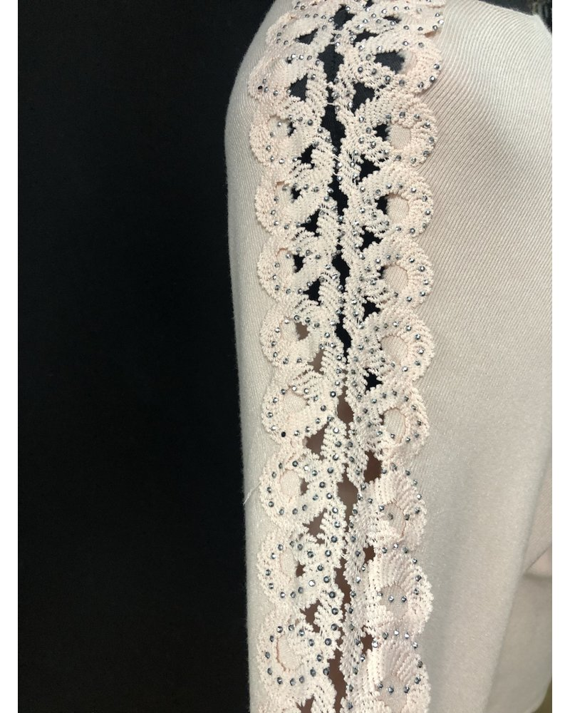 Aria Diamanté cut out arm jumper