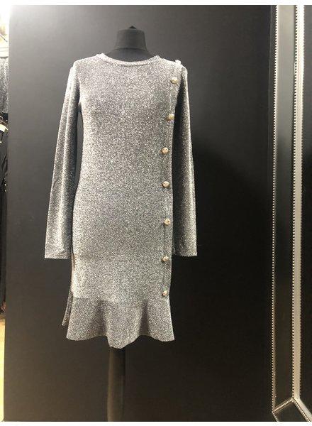 Charley Lurex gold button dress