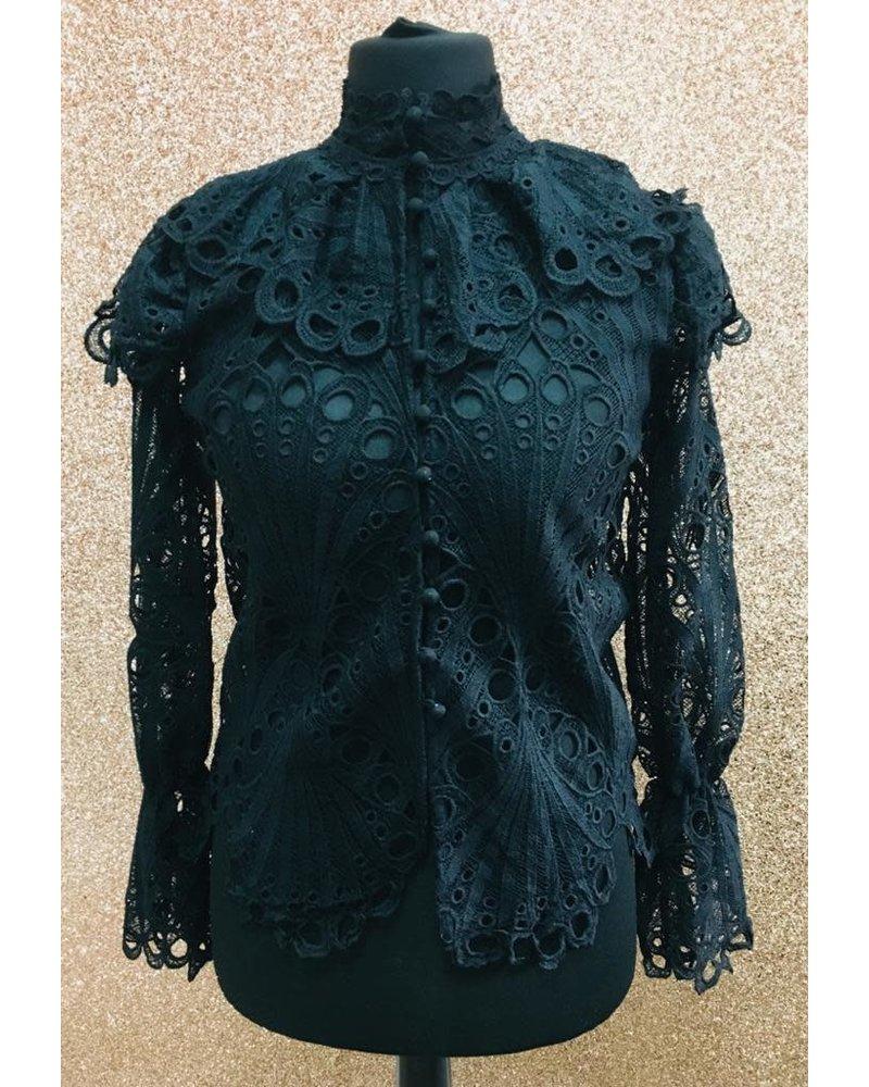 Kirstie Crochet button lace top