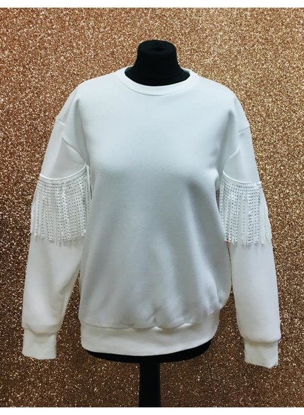 Sherri Studded tassel arm sweater
