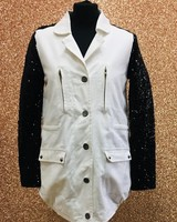 Luna sequin sleeve light weight jacket