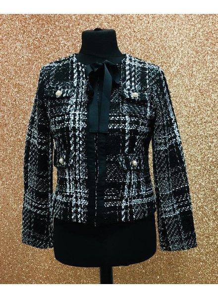 Chantelle pearl tweed jacket