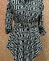 Fenella belted shirt dress