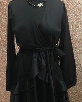 Belle Satin crossover dress