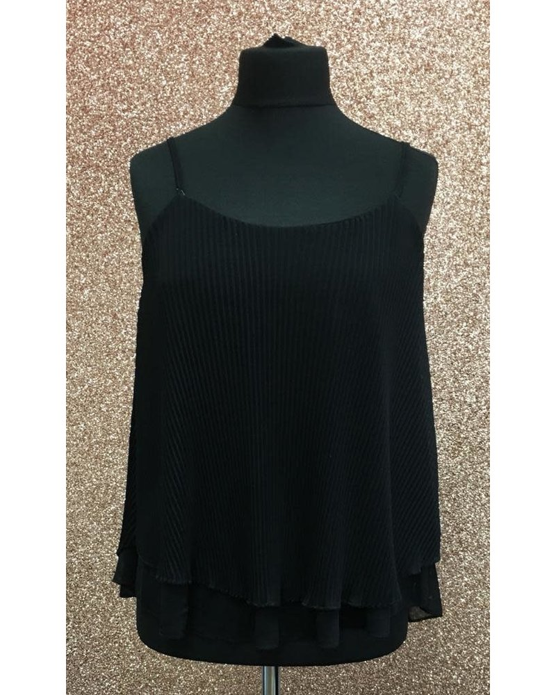 Penny pleated overlay cami