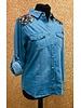 Betsy sequin detail Soft denim shirt