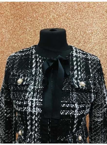 Chantelle pearl tweed jacket