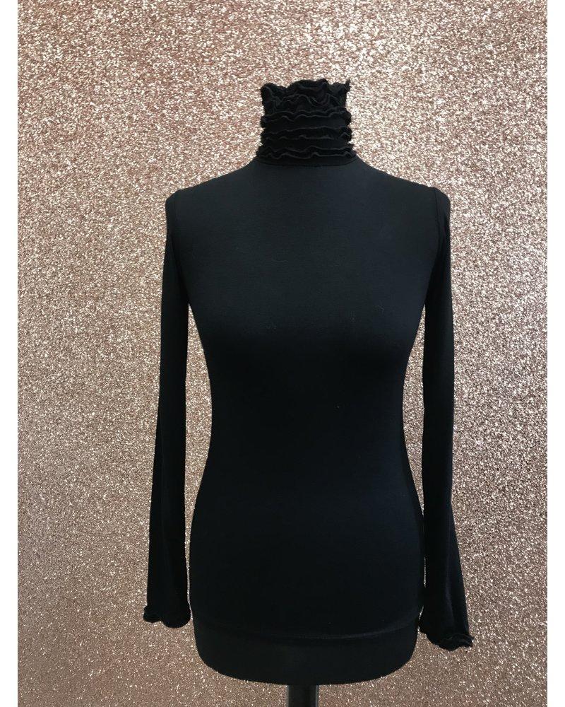 Rena ruffle high neck long sleeve top